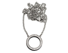 78632 Eternity necklace steel long