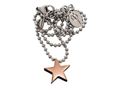 79408 Star thin necklace rosegold