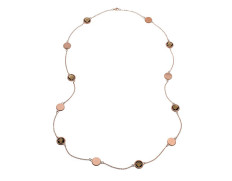 Mare necklace multi matt rose gold