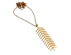 Palm necklace gold