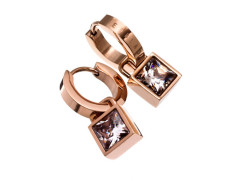 Quadrat orbit earrings rose gold