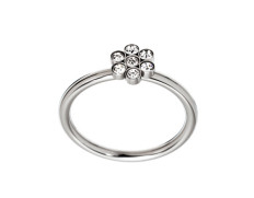 Belle flower ring steel