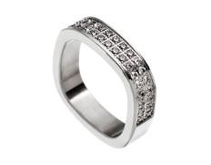 Jolie ring cz steel